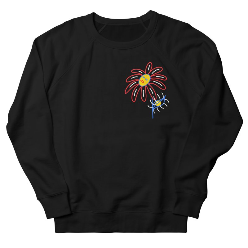 METAL PETALS Women's French Terry Sweatshirt by stephupsidefrown's Artist Shop