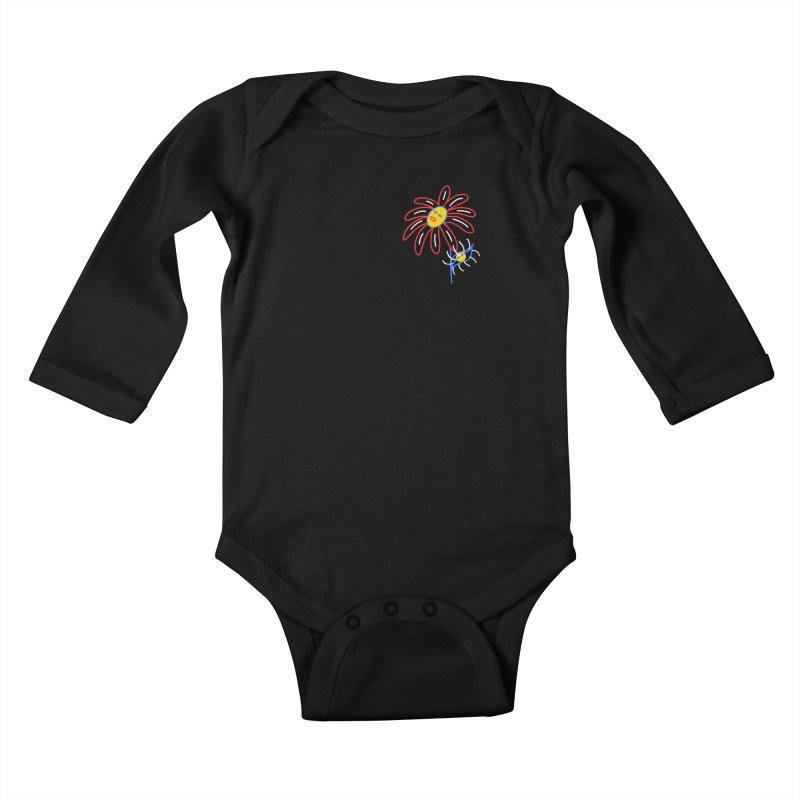 METAL PETALS Kids Baby Longsleeve Bodysuit by stephupsidefrown's Artist Shop
