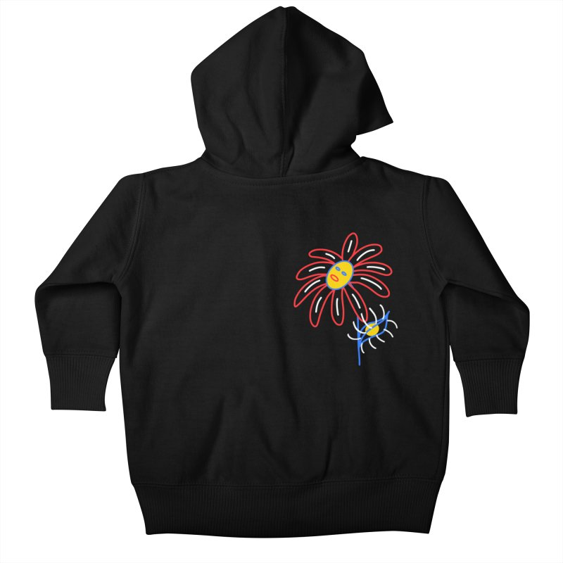 METAL PETALS Kids Baby Zip-Up Hoody by stephupsidefrown's Artist Shop