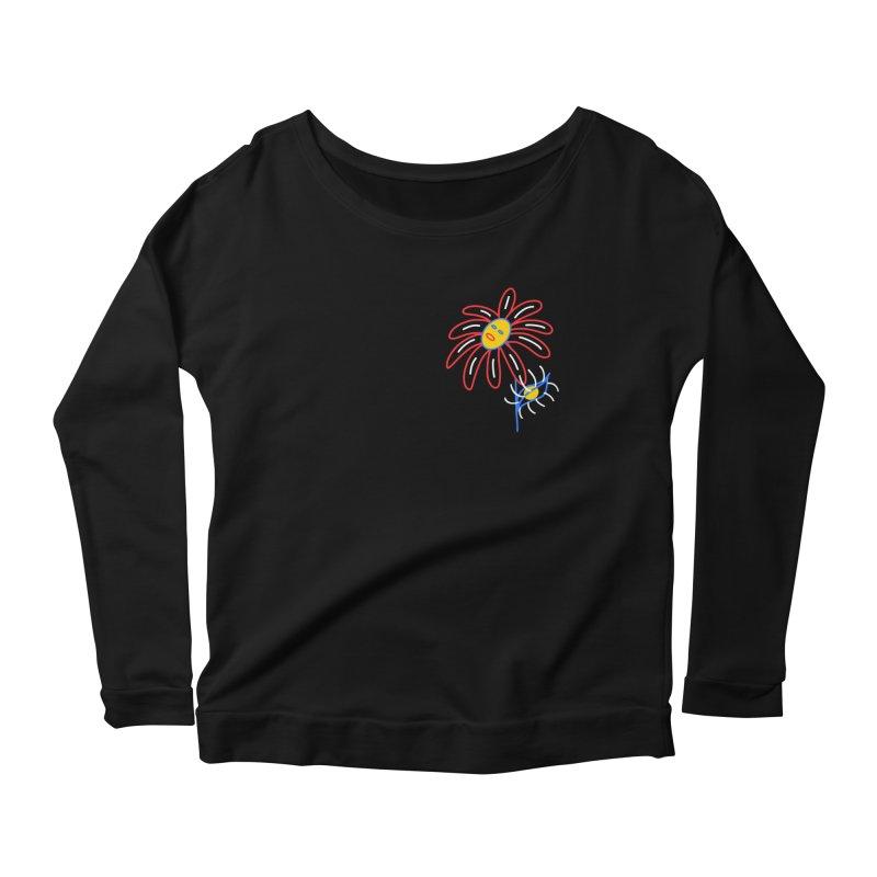 METAL PETALS Women's Scoop Neck Longsleeve T-Shirt by stephupsidefrown's Artist Shop