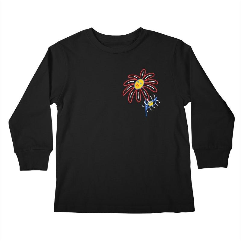METAL PETALS Kids Longsleeve T-Shirt by stephupsidefrown's Artist Shop