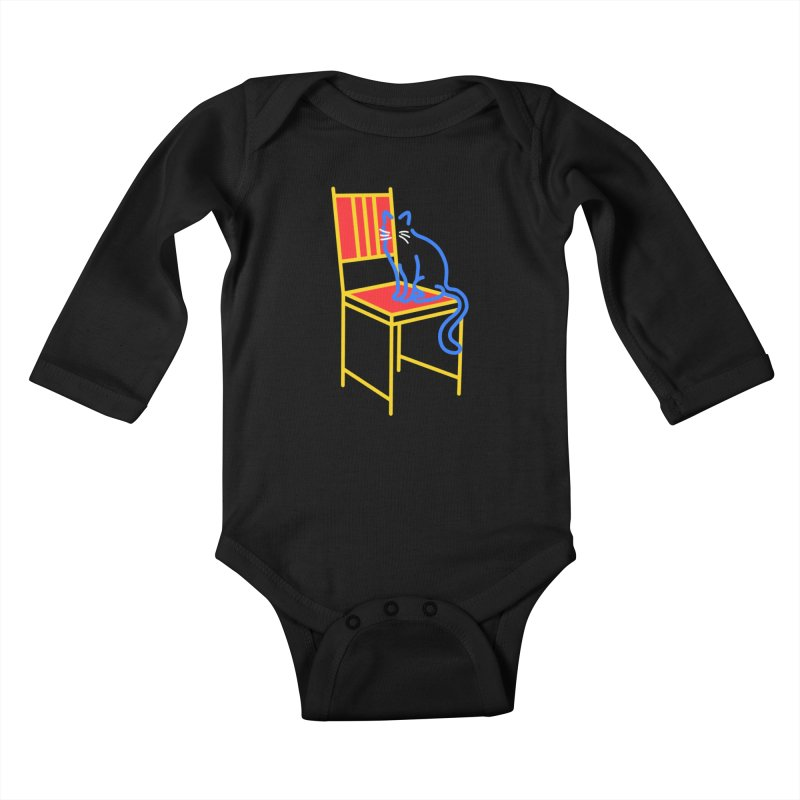 ANGEL Kids Baby Longsleeve Bodysuit by stephupsidefrown's Artist Shop