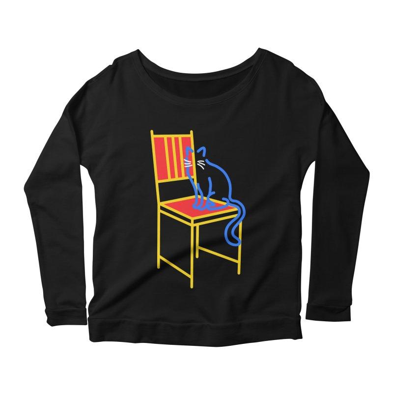 ANGEL Women's Scoop Neck Longsleeve T-Shirt by stephupsidefrown's Artist Shop