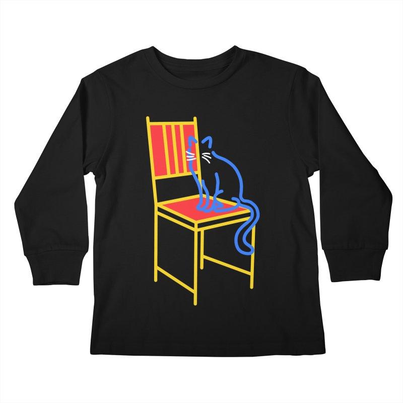 ANGEL Kids Longsleeve T-Shirt by stephupsidefrown's Artist Shop