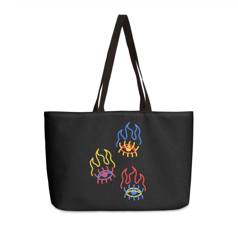 F(EYE)RE Accessories Weekender Bag Bag by stephupsidefrown's Artist Shop