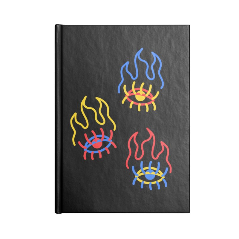 F(EYE)RE Accessories Lined Journal Notebook by stephupsidefrown's Artist Shop