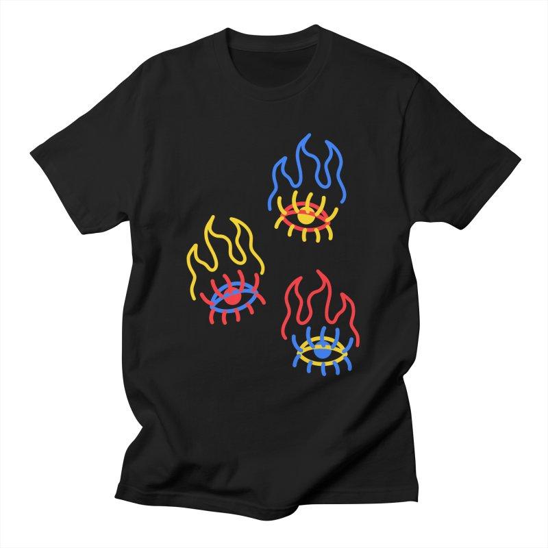F(EYE)RE Men's T-Shirt by stephupsidefrown's Artist Shop