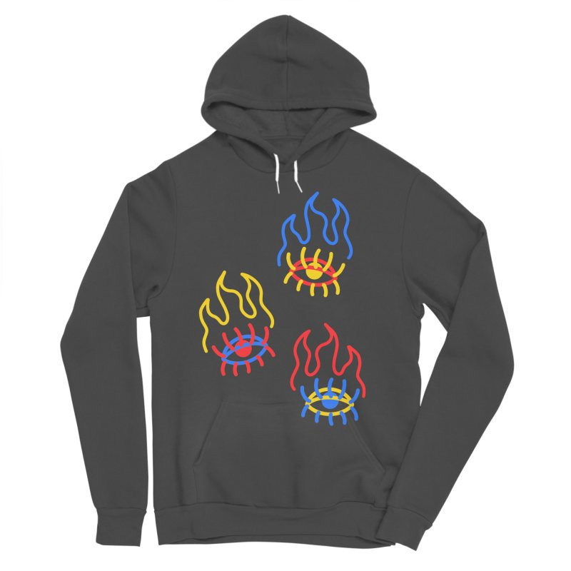 F(EYE)RE Men's Sponge Fleece Pullover Hoody by stephupsidefrown's Artist Shop