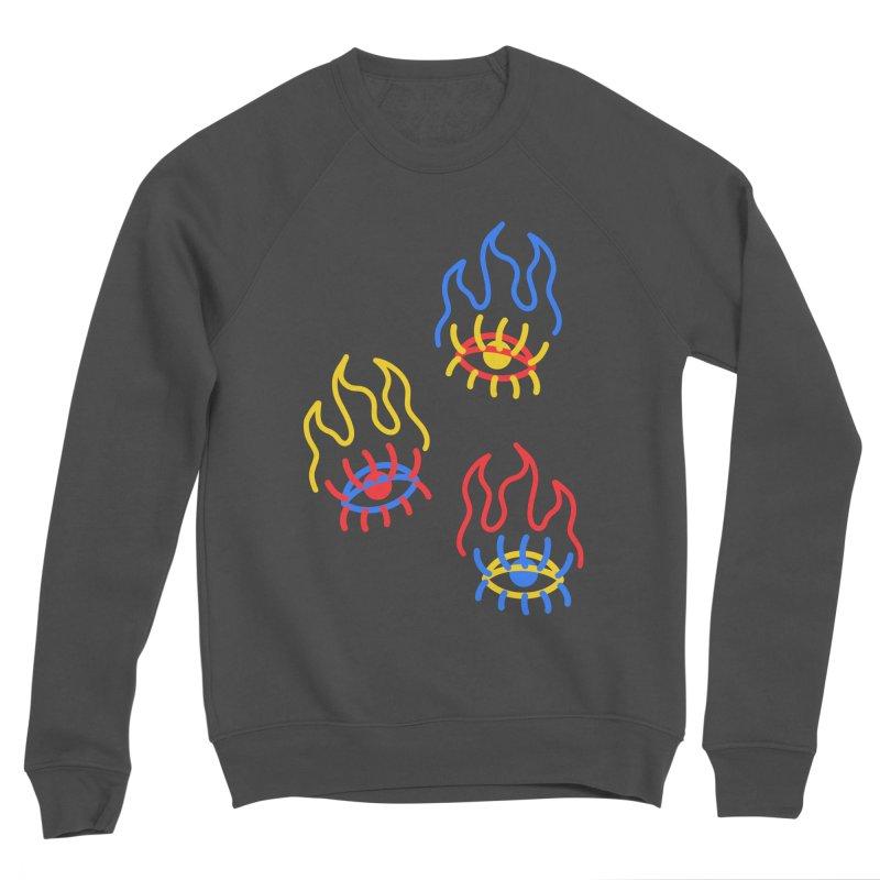 F(EYE)RE Men's Sponge Fleece Sweatshirt by stephupsidefrown's Artist Shop