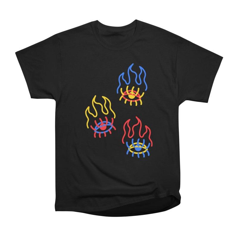 F(EYE)RE Men's Heavyweight T-Shirt by stephupsidefrown's Artist Shop