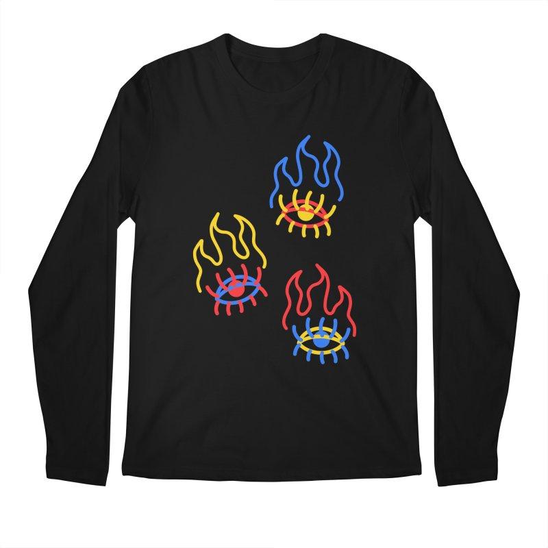 F(EYE)RE Men's Regular Longsleeve T-Shirt by stephupsidefrown's Artist Shop