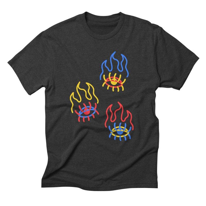 F(EYE)RE Men's Triblend T-Shirt by stephupsidefrown's Artist Shop