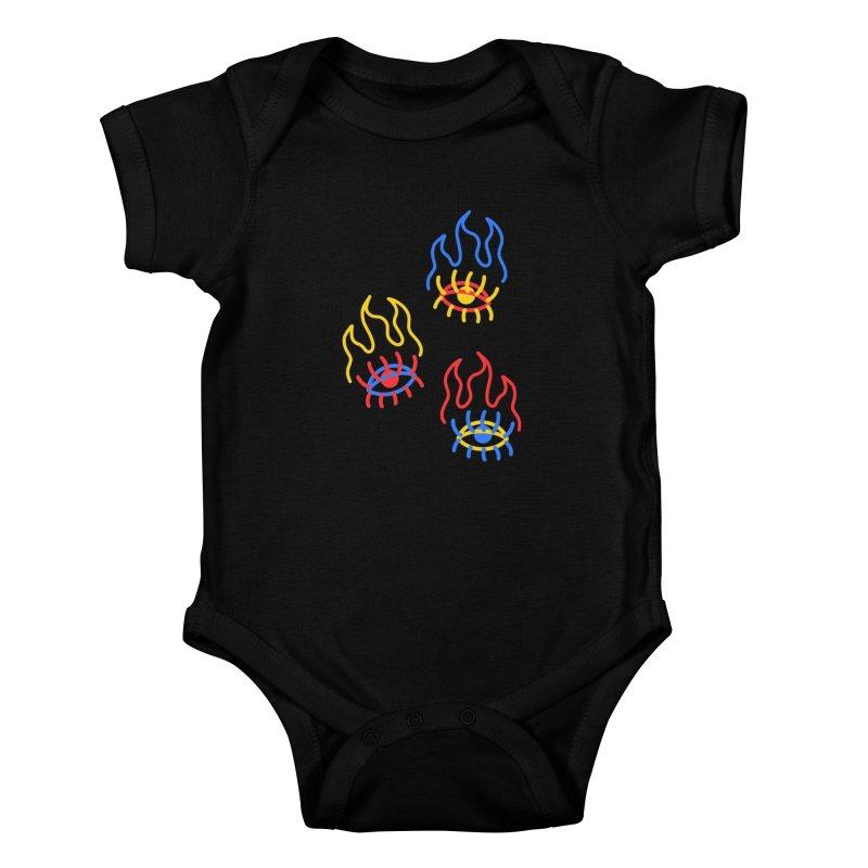 F(EYE)RE Kids Baby Bodysuit by stephupsidefrown's Artist Shop