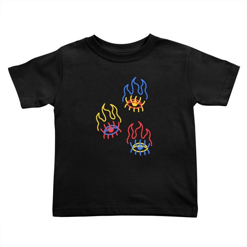 F(EYE)RE Kids Toddler T-Shirt by stephupsidefrown's Artist Shop