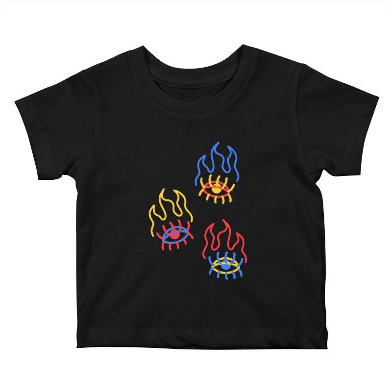 F(EYE)RE Kids Baby T-Shirt by stephupsidefrown's Artist Shop