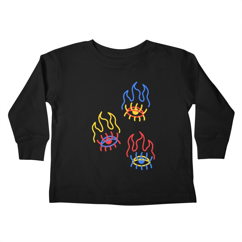 F(EYE)RE Kids Toddler Longsleeve T-Shirt by stephupsidefrown's Artist Shop
