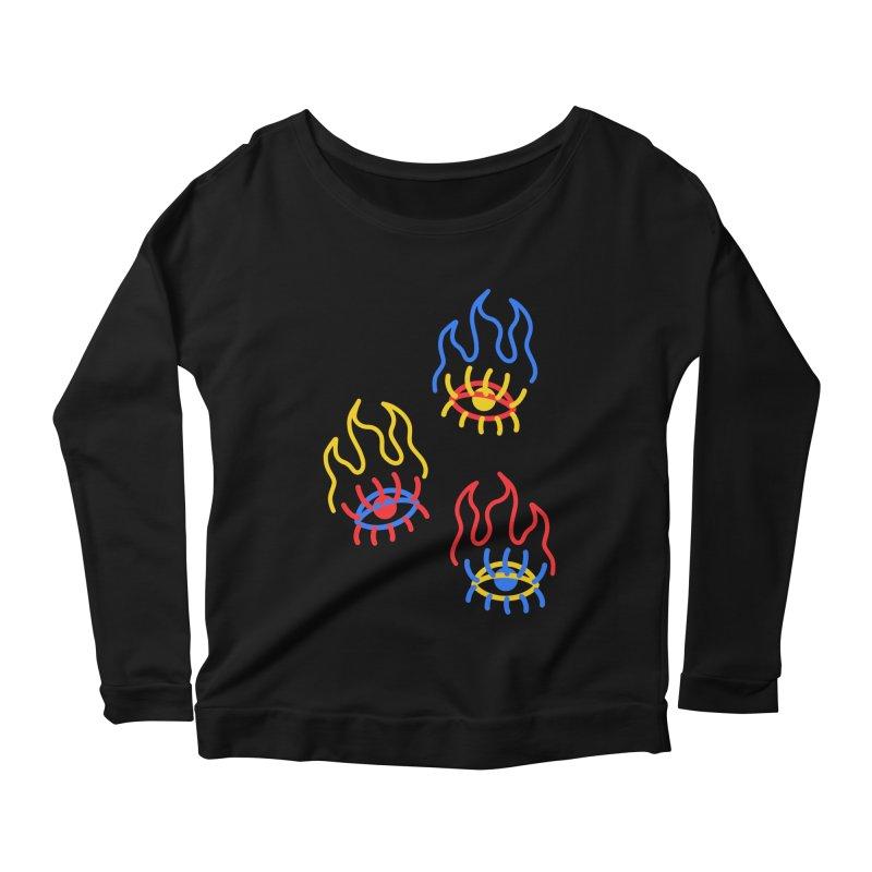 F(EYE)RE Women's Scoop Neck Longsleeve T-Shirt by stephupsidefrown's Artist Shop
