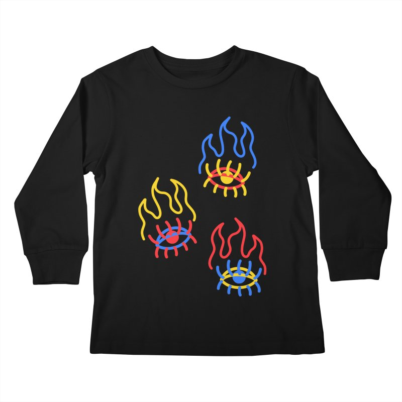 F(EYE)RE Kids Longsleeve T-Shirt by stephupsidefrown's Artist Shop
