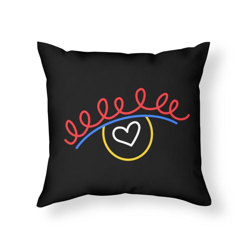 FLINE Home Throw Pillow by stephupsidefrown's Artist Shop