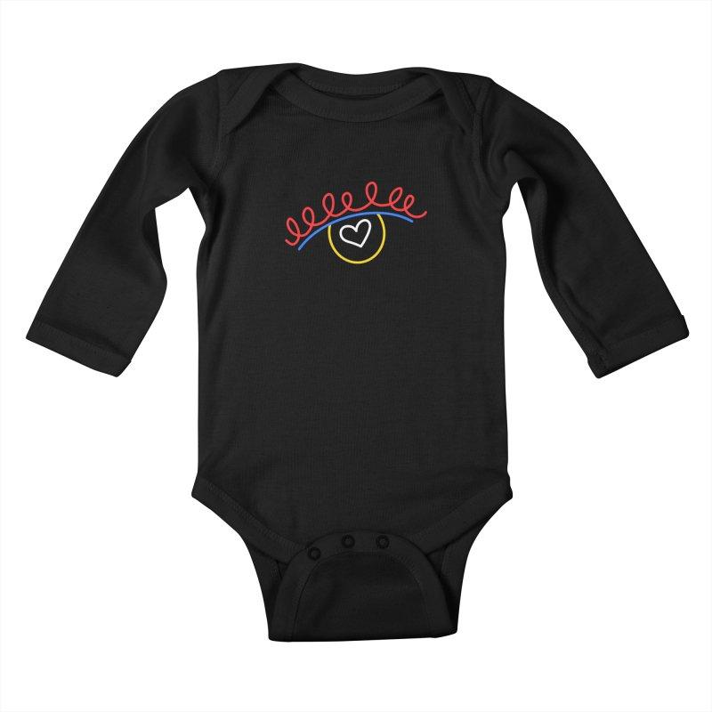 FLINE Kids Baby Longsleeve Bodysuit by stephupsidefrown's Artist Shop
