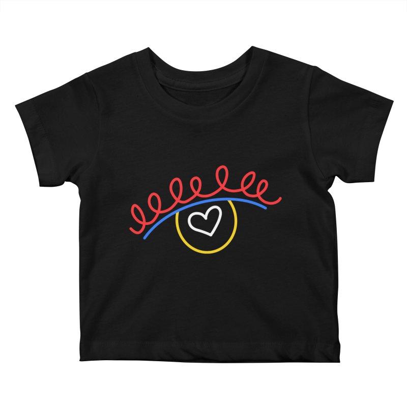 FLINE Kids Baby T-Shirt by stephupsidefrown's Artist Shop