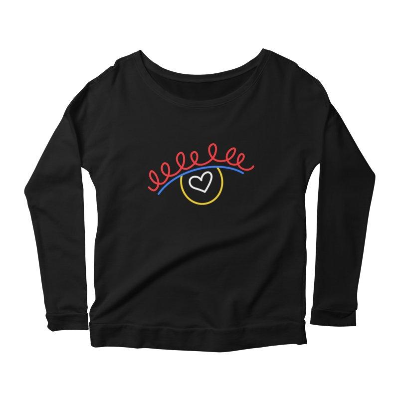 FLINE Women's Scoop Neck Longsleeve T-Shirt by stephupsidefrown's Artist Shop
