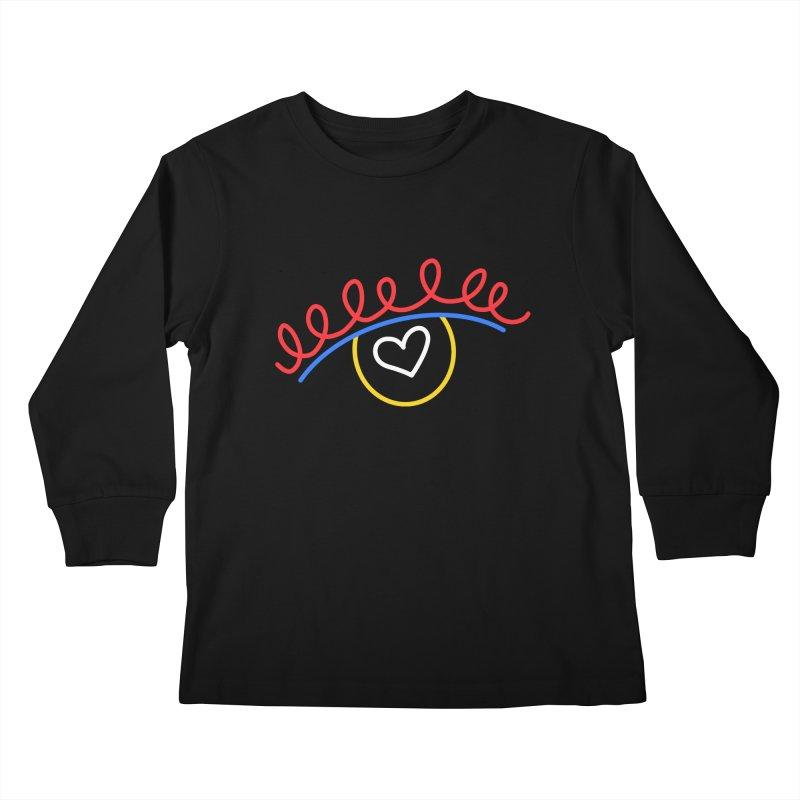 FLINE Kids Longsleeve T-Shirt by stephupsidefrown's Artist Shop