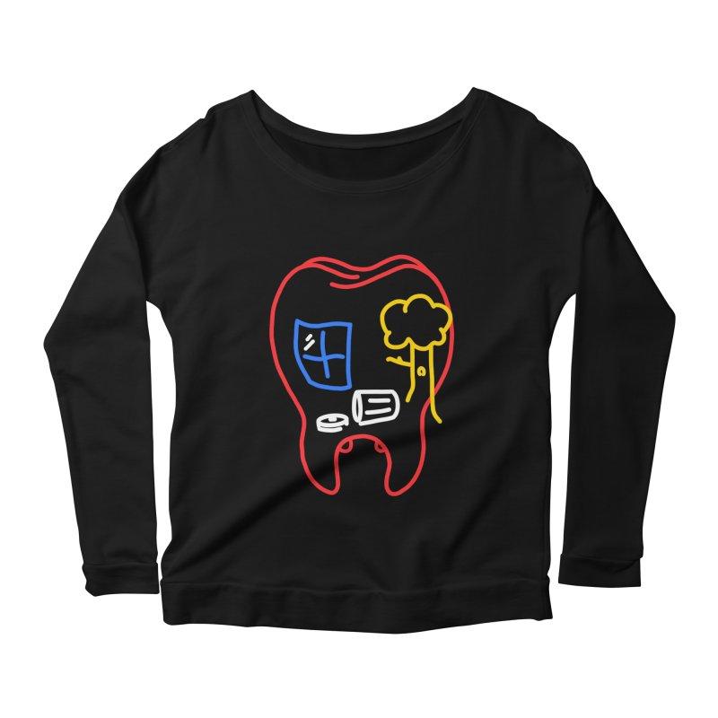 FALL Women's Scoop Neck Longsleeve T-Shirt by stephupsidefrown's Artist Shop