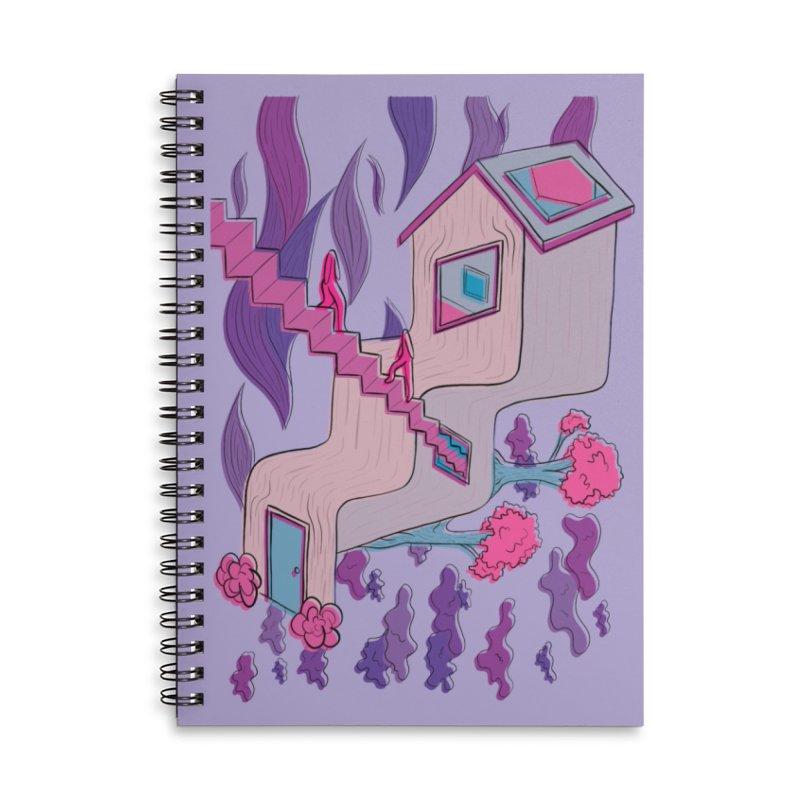 Untitled Artwork Accessories Lined Spiral Notebook by stephupsidefrown's Artist Shop