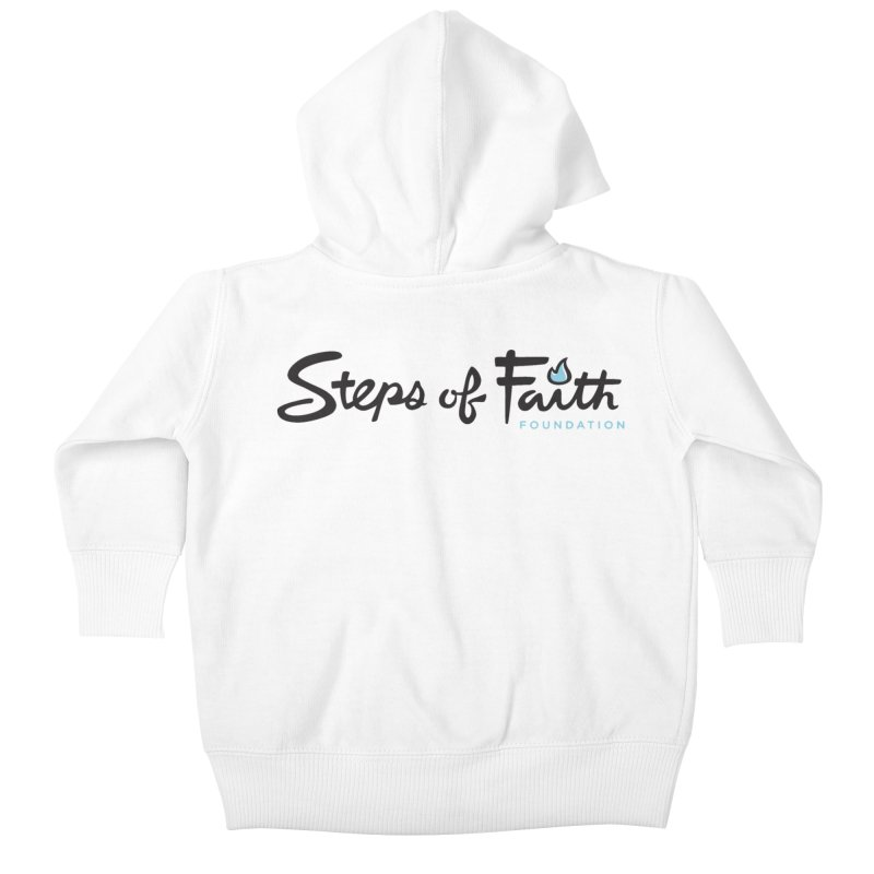 Steps of Faith Kids Baby Zip-Up Hoody by stepsoffaith's Artist Shop
