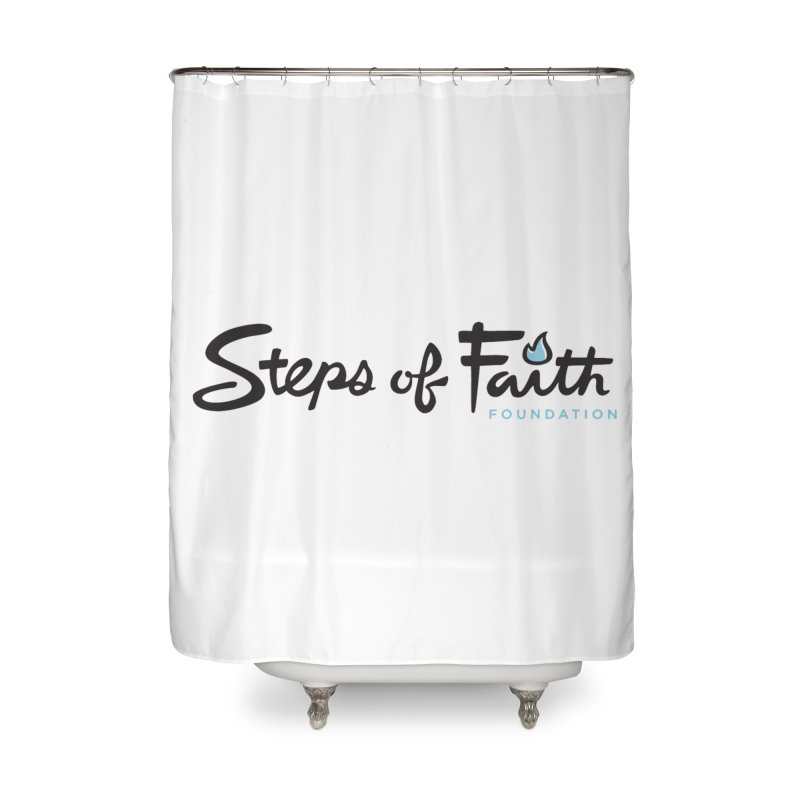 Steps of Faith Home Shower Curtain by stepsoffaith's Artist Shop