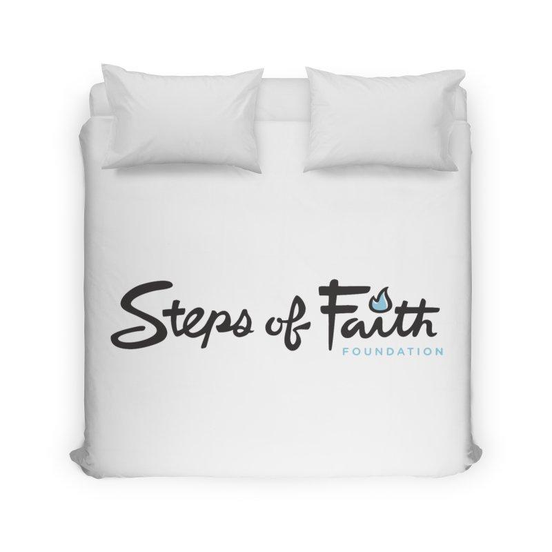 Steps of Faith Home Duvet by stepsoffaith's Artist Shop