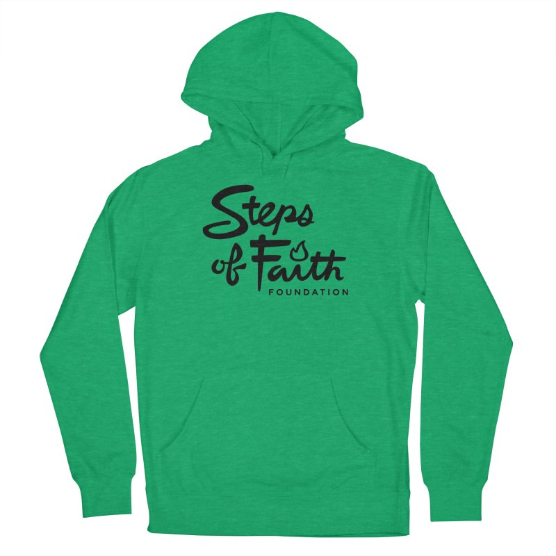 Steps of Faith_Black  Women's French Terry Pullover Hoody by stepsoffaith's Artist Shop