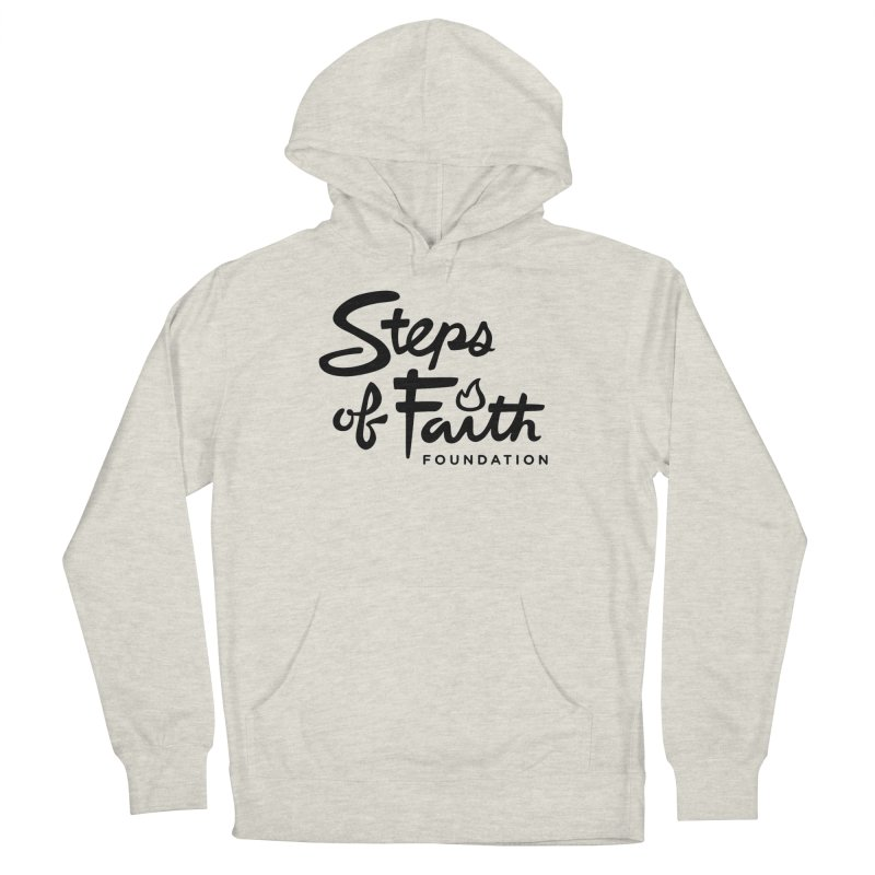 Steps of Faith_Black  Men's French Terry Pullover Hoody by stepsoffaith's Artist Shop
