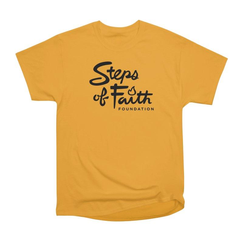 Steps of Faith_Black  Men's Heavyweight T-Shirt by Steps of Faith