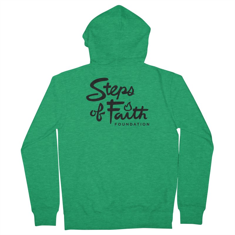 Steps of Faith_Black  Women's French Terry Zip-Up Hoody by stepsoffaith's Artist Shop