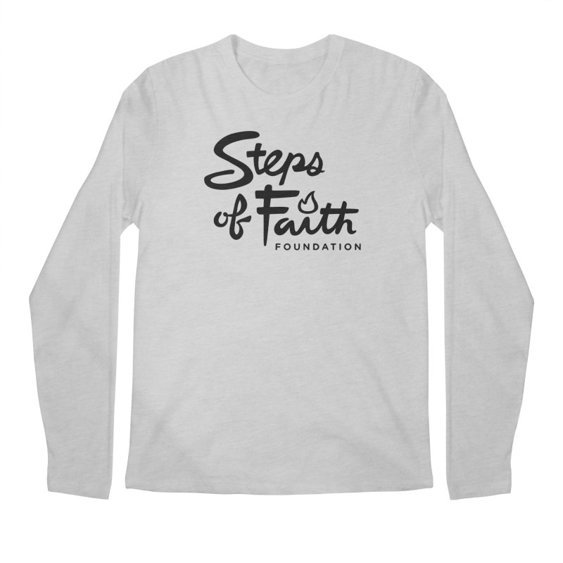 Steps of Faith_Black  Men's Regular Longsleeve T-Shirt by Steps of Faith