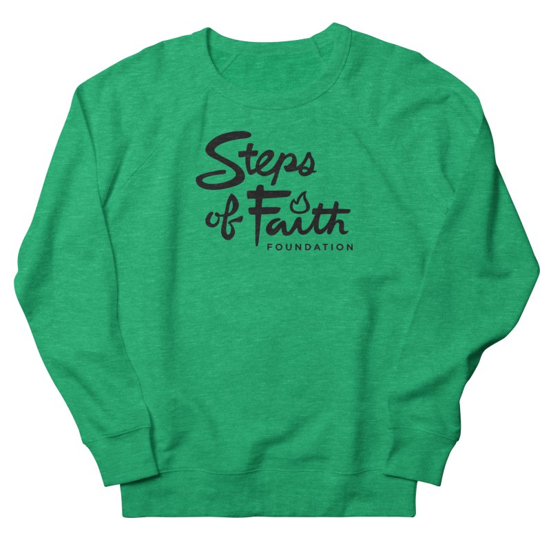 Steps of Faith_Black  Men's French Terry Sweatshirt by Steps of Faith