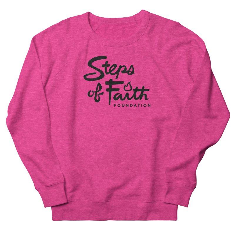 Steps of Faith_Black  Men's French Terry Sweatshirt by stepsoffaith's Artist Shop