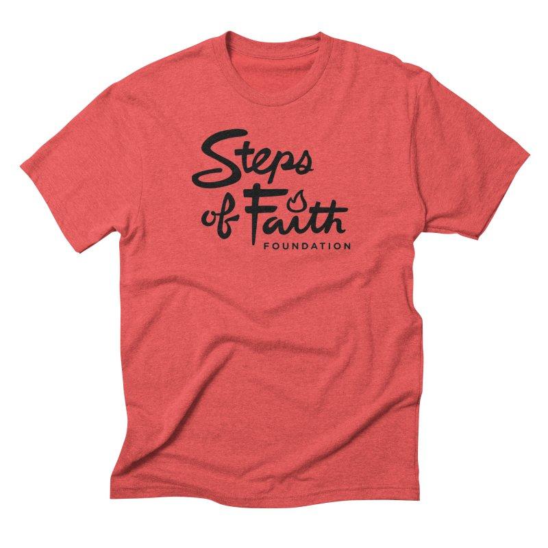 Steps of Faith_Black  Men's Triblend T-Shirt by stepsoffaith's Artist Shop