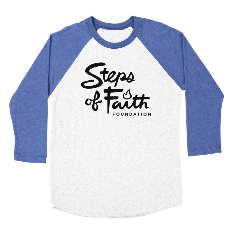 Steps of Faith_Black  Women's Baseball Triblend Longsleeve T-Shirt by stepsoffaith's Artist Shop