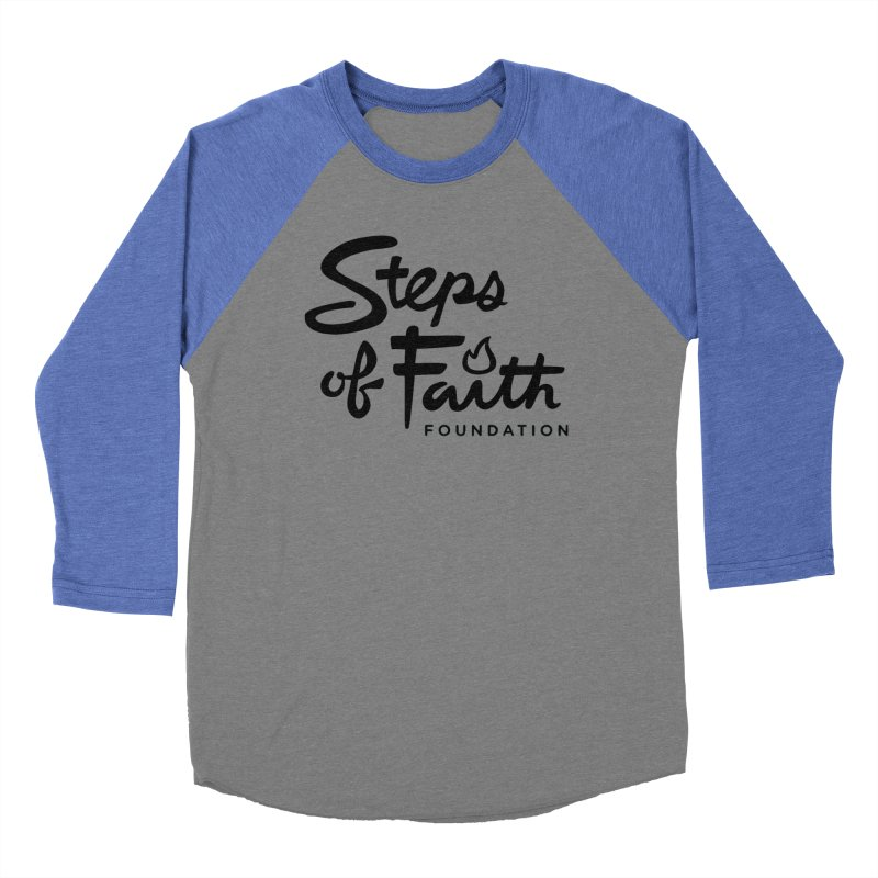 Steps of Faith_Black  Men's Baseball Triblend Longsleeve T-Shirt by stepsoffaith's Artist Shop