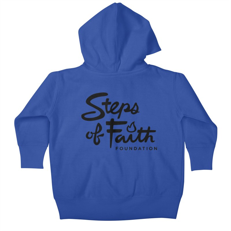 Steps of Faith_Black  Kids Baby Zip-Up Hoody by stepsoffaith's Artist Shop