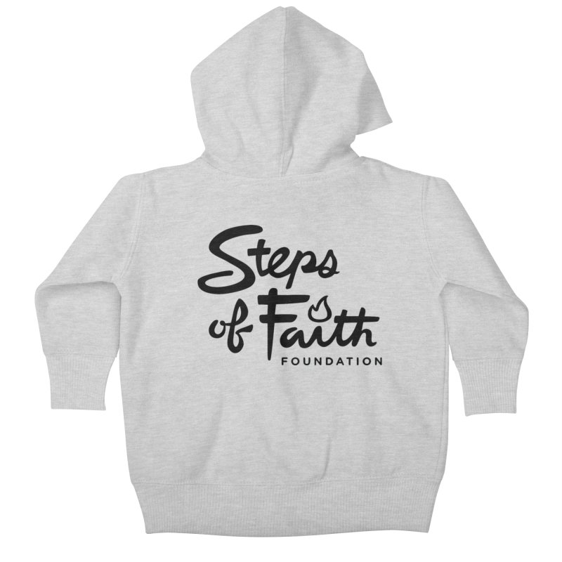 Steps of Faith_Black  Kids Baby Zip-Up Hoody by Steps of Faith