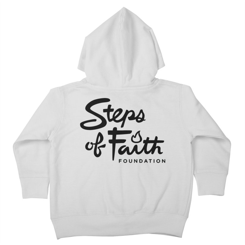 Steps of Faith_Black  Kids Toddler Zip-Up Hoody by Steps of Faith