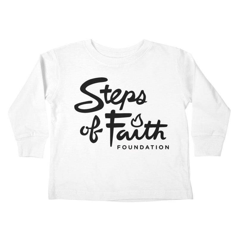 Steps of Faith_Black  Kids Toddler Longsleeve T-Shirt by stepsoffaith's Artist Shop