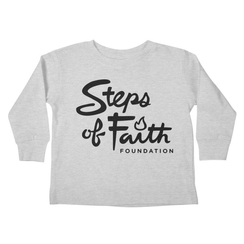 Steps of Faith_Black  Kids Toddler Longsleeve T-Shirt by Steps of Faith