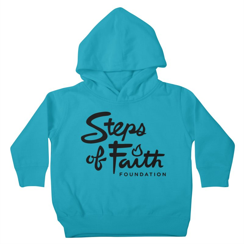 Steps of Faith_Black  Kids Toddler Pullover Hoody by Steps of Faith