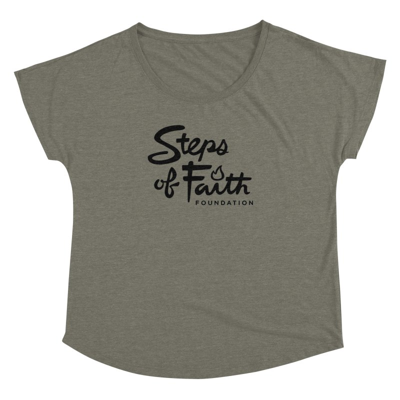 Steps of Faith_Black  Women's Dolman Scoop Neck by stepsoffaith's Artist Shop