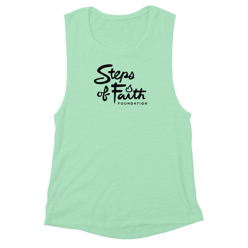 Steps of Faith_Black  Women's Muscle Tank by stepsoffaith's Artist Shop